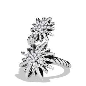 David Yurman Silver Starburst Bypass Ring